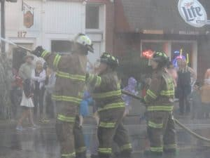 fireman's water fighting