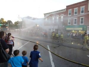 firemans water fight